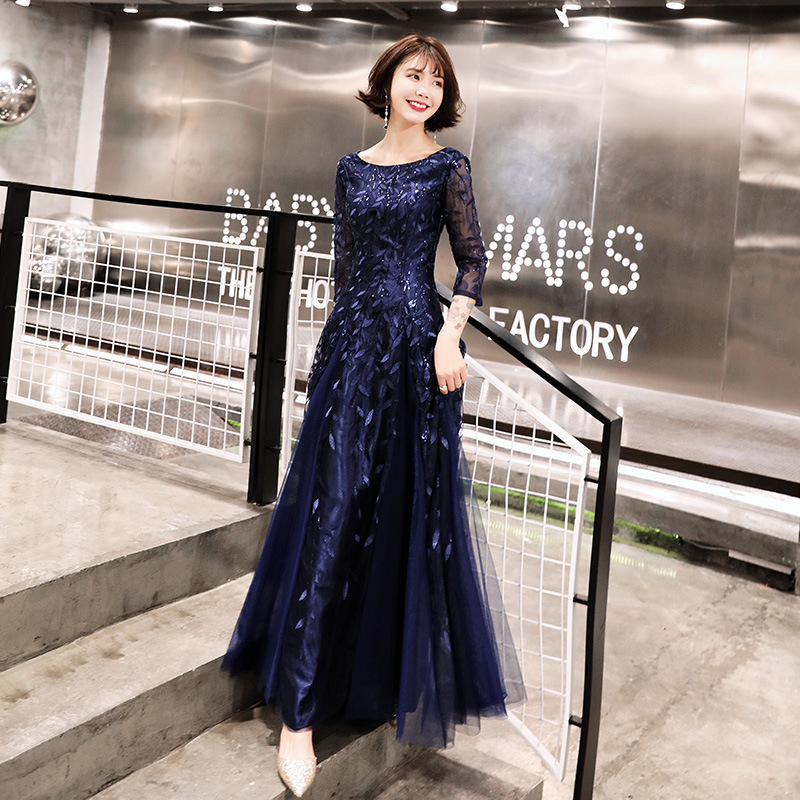 2020 Real Dresses Atmosphere Female Presided Over The New 2020 National People's Congress Chorus Costumes Students Long Dress