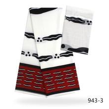 Pure silk fabric african wax chiffon 2+4yards dubai lace for patchwork 943