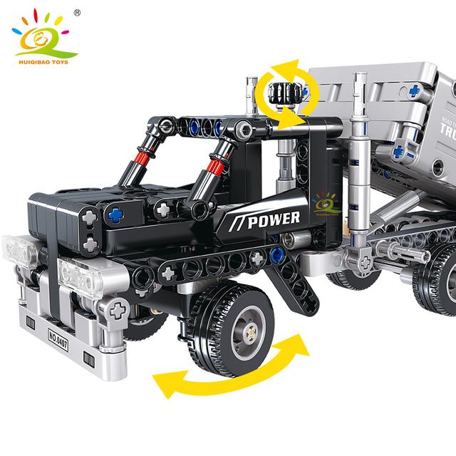 HUIQIBAO 322PCS Dump Truck Building Blocks Technic City Engineering Car Bricks DIY Construction Children Toy friends gift