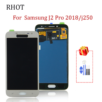 цена на 100% tested For Samsung Galaxy J2 Pro 2018 LCD screen replacement component J250 SM-J250F/DS J250 Touchscreen digital components