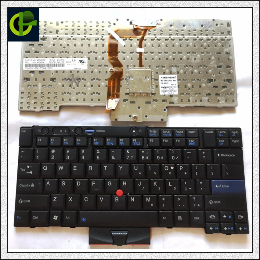 New English keyboard for LENOVO <font><b>Thinkpad</b></font> T410 T420 X220 T510 T510i T520 T520i W510 W520 T400S T410I T420I X220i T410S T420S US image