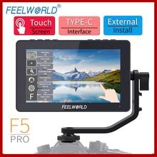 Feelworld F5プロ5.5インチ4 18kモニタータッチスクリーンips FHD1920x1080デジタル一眼レフカメラフィールドモニターワイヤレス伝送ビデオ