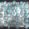 Retro Turquesas Anéis Ajustáveis Anéis Boêmio 50 pçs/lote Atacado