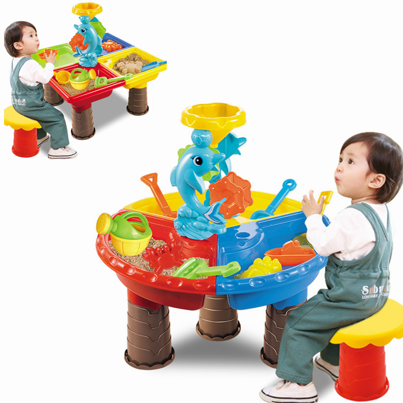 Water & Sand Tables Play Set Toys For Kids 2 In 1 Beach Pools Swimming Summer Sandbox Step2 Toddler Boy Girl Outdoor Sports Fun