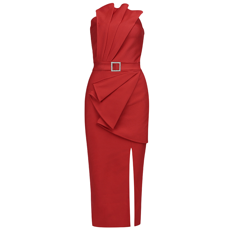 Robe de soirée moulante sans bretelles pour femmes