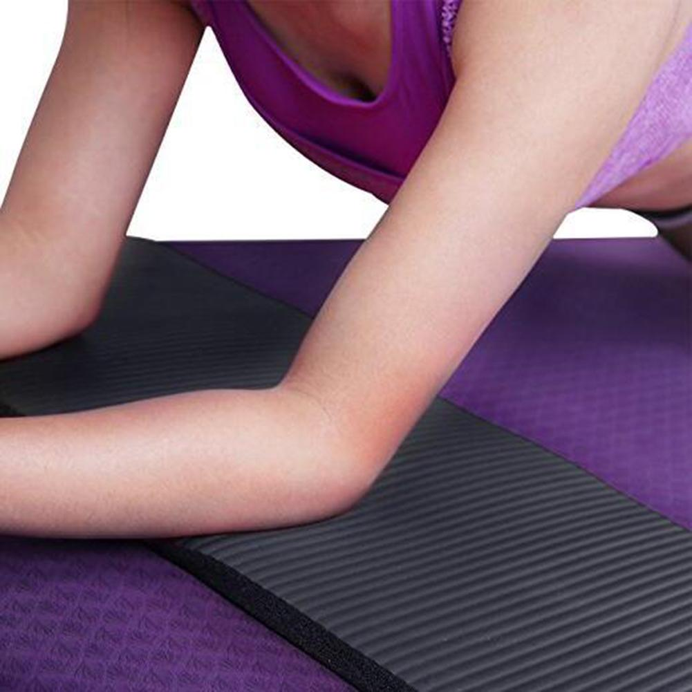 Yoga Mat Thick NBR Yoga Pad for Workout Training Abdominal Exercise 4