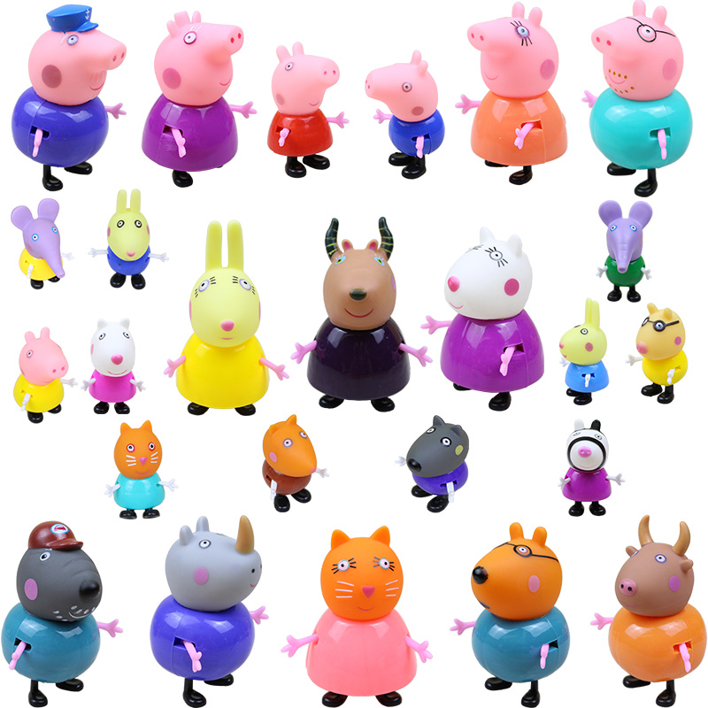Peppa Pig George Pepa Pig Figuras Friend Family Pack Dad Mom Action Figure Anime Toys Peppa Pig Birthday Decoration Gift Set