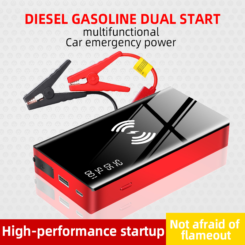 Wireless Charger Car Jump Starter Booster 20000mAh <font><b>12V</b></font> <font><b>Power</b></font> <font><b>Bank</b></font> Emergency Car Jump Starter Battery Charger Vehicle Accessories image