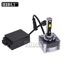 Hidlt 1 conjunto sem erros de instalação destrutiva canbus led d1s d1r d3s 90w 10000lm carro led farol lâmpada substituir hid lâmpadas