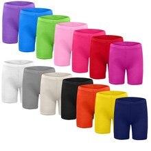 Новые летние шорты для танцев для девочек, Короткие дышащие и безопасные штаны для девочек 819