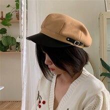 Octagonal Hats Gatsby-Caps Painter Newsboy Autumn Women Ladies Stylish Artist Woolen