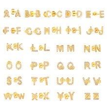 Boucles d'oreilles en argent Sterling A-Z pour femmes, bijoux avec lettres de l'alphabet, Zircon A ~ Z 26, 1 paire, 925