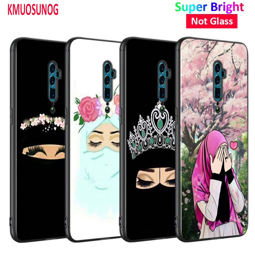 Black Cover Hijab Lovely Woman Cartoon For Oppo Reno Z 10x Zoom F11 F9 F7 F5 A7 R9s R17 Realme 2 C2 K3 Pro Phone Case Fitted Cases Aliexpress