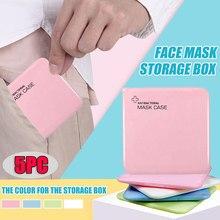 5 pçs grande caixa de máscara antibacteriana salvar máscara facial organizador n95 pasta de armazenamento à prova de poeira caixa de medicina pessoal proteção