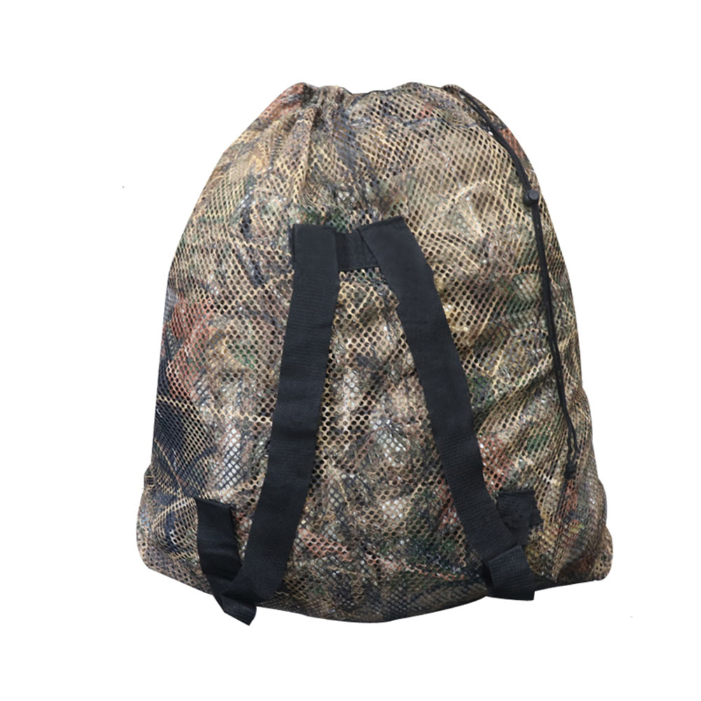 Camouflage Drawstring Mesh Durable Storage Outdoor Goose Double Shoulder Straps Decoy Bag Quick Dry Large Capacity Hunting Duck