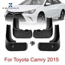 X AUTOHAUX 4 шт. черный пластик переднее заднее крыло брызговики Брызговики набор подходит для Toyota Camry
