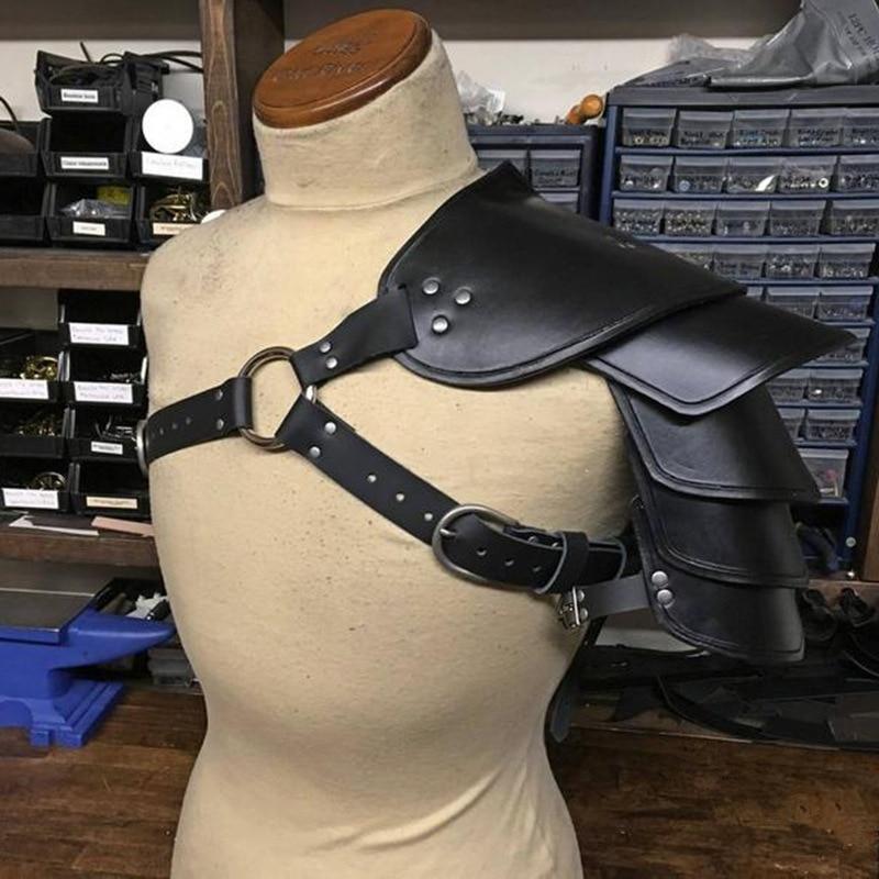 Cosplay Props Vintage Witcher Pauldrons Medieval Leather Shoulder Armor Warrior