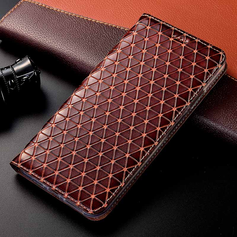 Image 1 - Magnet Natural Genuine Leather Skin Flip Wallet Book Phone Case Cover On For Xiaomi Redmi Note 4 4X X Note4 Note4X Pro 32/64 GBFlip Cases   -