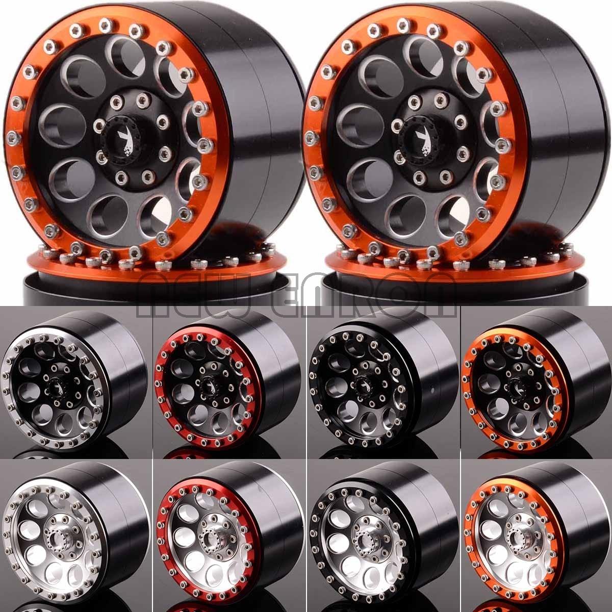 NEW ENRON 4P Aluminum 2.2 Inch Beadlock Wheel Rim Fit FOR RC Rock Crawler Axial SCX10 RR10 Wraith 90048 90018 Traxxas TRX4