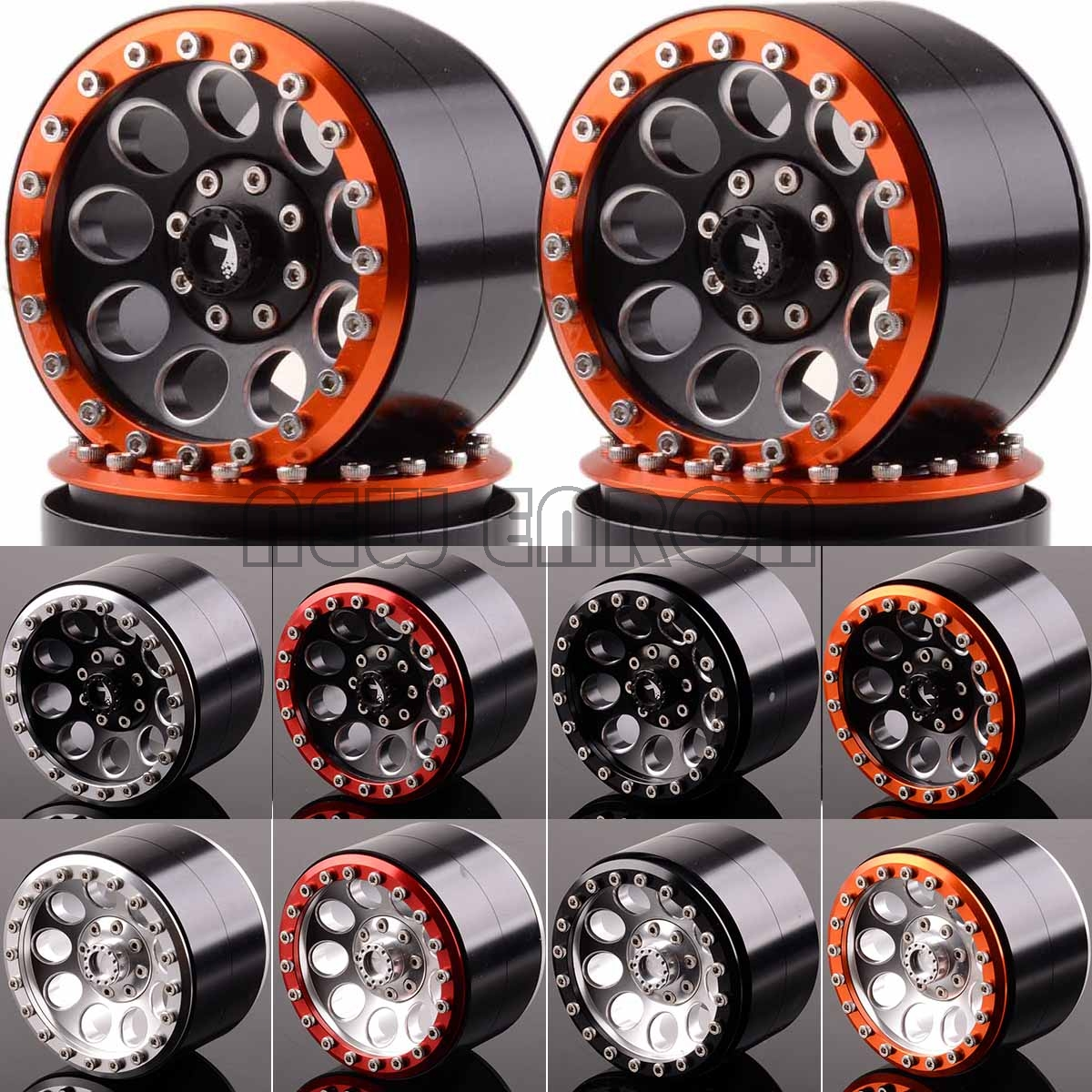 NEW ENRON 4P Aluminum 2.2 Inch Beadlock Wheel Rim Hub Fit FOR RC Rock Crawler Axial SCX10 RR10 Wraith 90048 90018 TRX4 TRX-4 KM2(China)