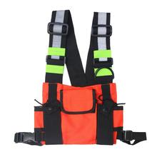 Fashion Nylon Chest Rig Bag Black Vest Hip Hop Streetwear Functional Tactical Harness Package
