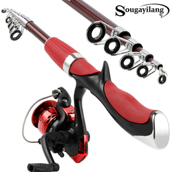 Sougayilang 1,5 m Carbon Fiber Rod Superharten Boot Fly Lure Angelrute Mit Hohe Qualität Angeln Reel Fishing Tackle De pesca
