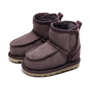 Image 4 - Geanuine Leather Australia Shoes 소년과 소녀를위한 아기 스노우 부츠 Kids Snow Boots 양모 리얼 모피 신발 Children 2020 new