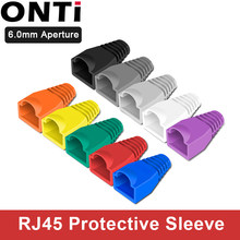 ONTi RJ-45 CAT6 CAT5e Adapter Cap Ethernet Network Cable Connector Plugs RJ45 Caps Cat 5 CAT6 Protective Sleeve Multicolour(China)