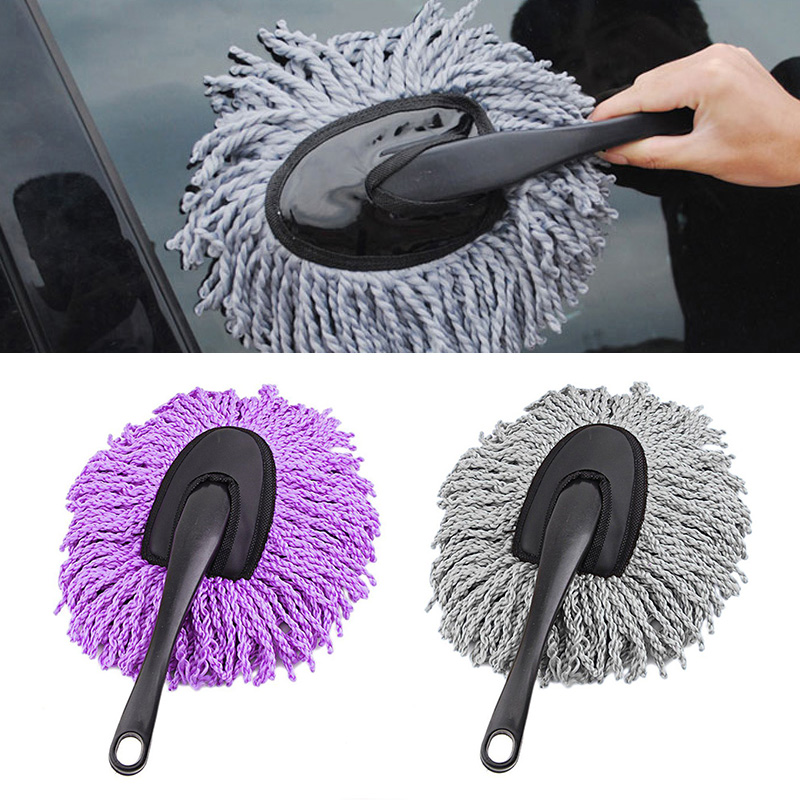 New Microfiber Car Window Cleaner Auto Window Dust Fog Moisture Cleaner Wash Brush Windshield Towel Washable Car Cleaning Tool