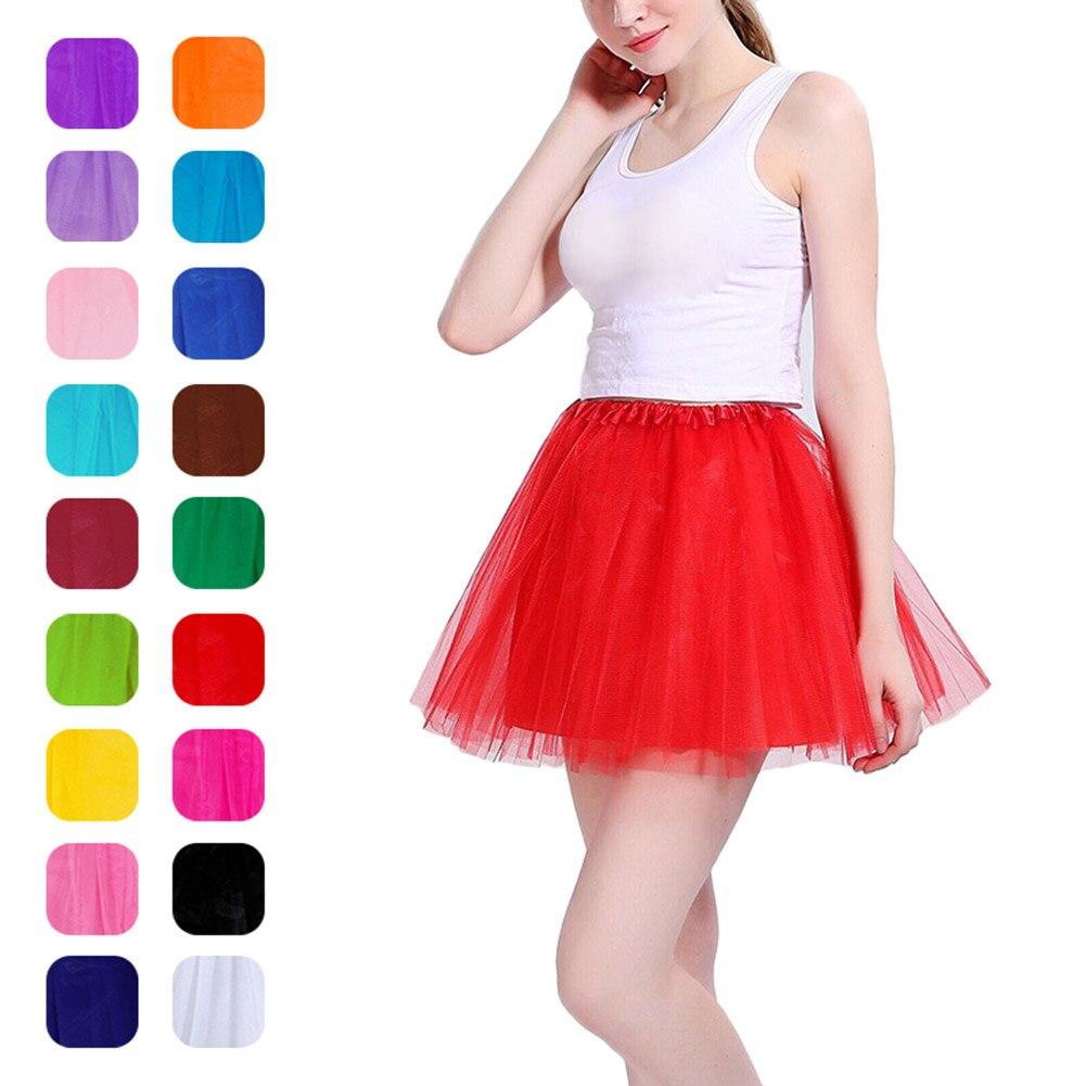 New 2019 Dreamlike Adult Women Sweet Fancy Solid Color Ballet Dancewear Princess Mesh Tutu Short Skirts Dance Fairy Tulle Skirt
