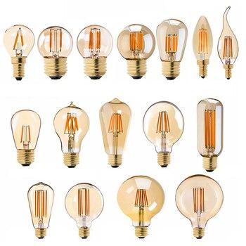 LED Lamp Dimmable Filament Bulb 220V Gold 1W 3W 4W 6W 8W