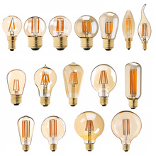 E27 LED lamba kısılabilir Filament ampul E14 220V altın 1W 3W 4W 6W 8W e12 E26 110V Edison Retro LED ampuller 2200K G40 dize ampul