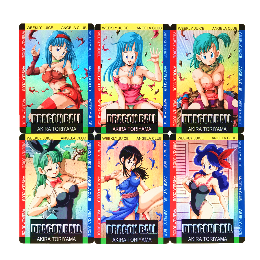 18pcs/set Super Dragon Ball Z Sexy Gentleman Chichi Bulma Android 18 Heroes Battle Card Ultra Game Collection Cards