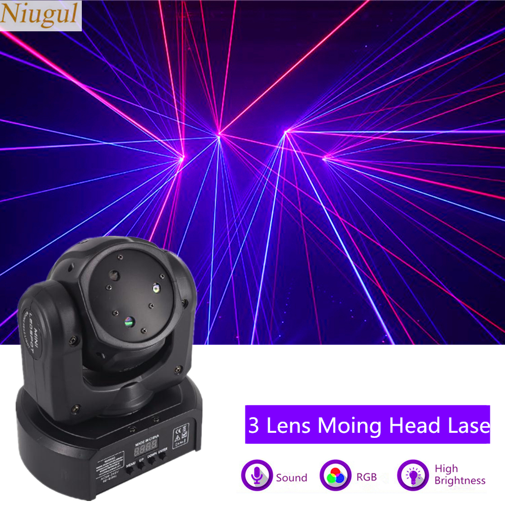 RGB DJ Disco Scan Laser Light Projector DMX Moving Head Laser Stage Effect Party Dance Christmas Holiday Bar Line Beam Lighting
