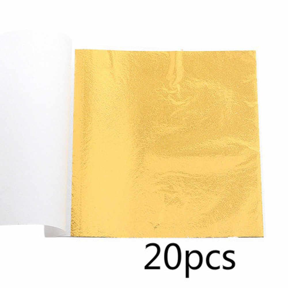 20 pz/lotto Stagnola di Oro Pratico Puro Bronzing Mobili Linea Della Parete Artigianato Decorazione In Oro di Scintillio Di Carta Del Tessuto di Carta