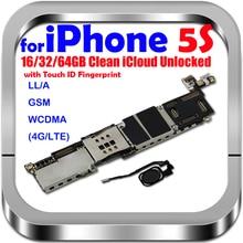 16GB 32GB 64GB اللوحة مع/دون اللمس ID ل فون 5S مقفلة النظام اللوحة الأم المنطق مجلس مع رقائق