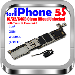 Image 1 - 16GB 32GB 64GB carte mère avec/sans identification tactile pour iphone 5S débloqué carte mère système carte mère avec puces