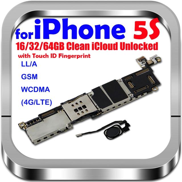 16GB 32GB 64GB carte mère avec/sans identification tactile pour iphone 5S débloqué carte mère système carte mère avec puces