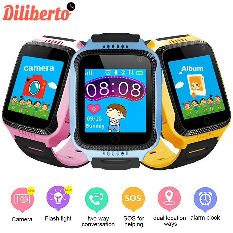 Diliberto Kids Smart Watch GPS Locator Tracking Watch Q529 Baby Life Assistant SOS Phone Call with Bluetooth Sport Bracelet