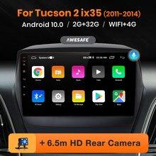 AWESAFE PX9 para Hyundai IX35 Tucson 2 2011-2014 auto Radio Multimedia reproductor de Video GPS de navegación No 2 din 2din DVD Android 10