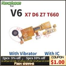 Novaphopat Oplader Poort Voor Zte Blade V6 X7 D6 Z7 T660 Usb Dock Poort Opladen Sluit Connector Microfoon Mic Flex kabel Board