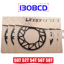 Litepro 130 BCD 9 10 11 Speed Hollow CNC Alloy Single Disc Chainwheel Road Folding Bike Chain Wheel 50/52/54/56/58T Chainring