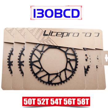 Litepro 130 BCD 9 10 11 Speed Hollow CNC Alloy Single Disc Chainwheel Road Folding Bike Chain Wheel 50/52/54/56/58T Chainring image