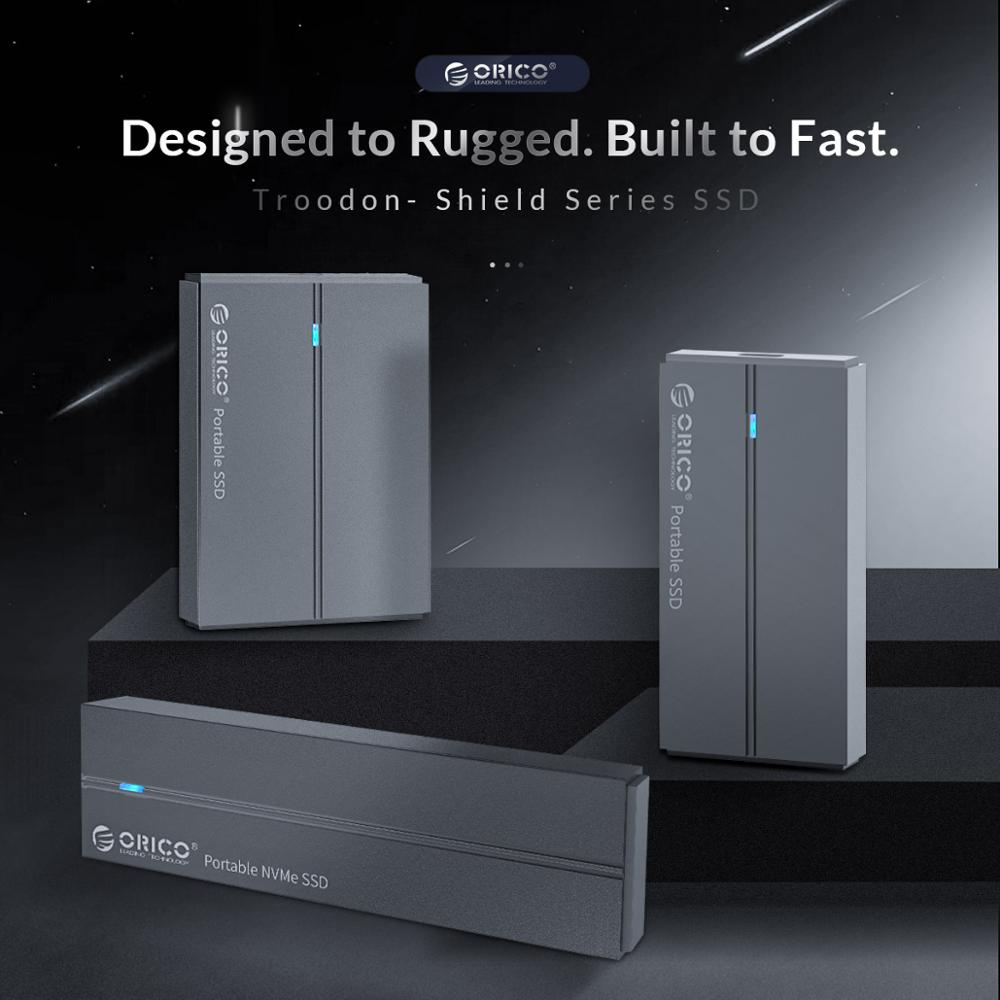 ORICO внешний SSD жесткий диск 1 ТБ SSD 128GB 256GB 512GB SATA SSD mSATA SSD NVME Портативный твердотельный накопитель с USB 3,1 Type C