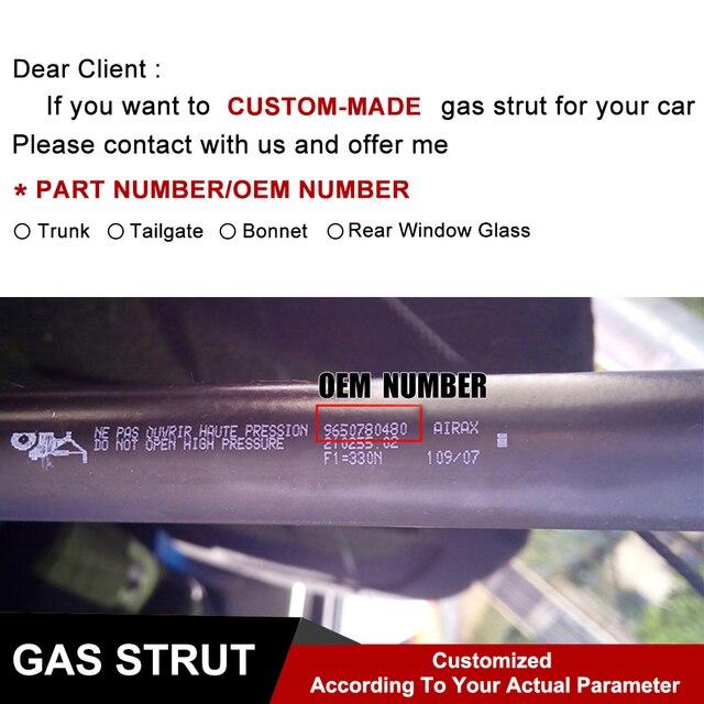 1 Pair Front Hood Lift Supports Struts 6489,81161-3Q000 For Hyundai Sonata 2011 - 2013 Hood Excluding Hybrid