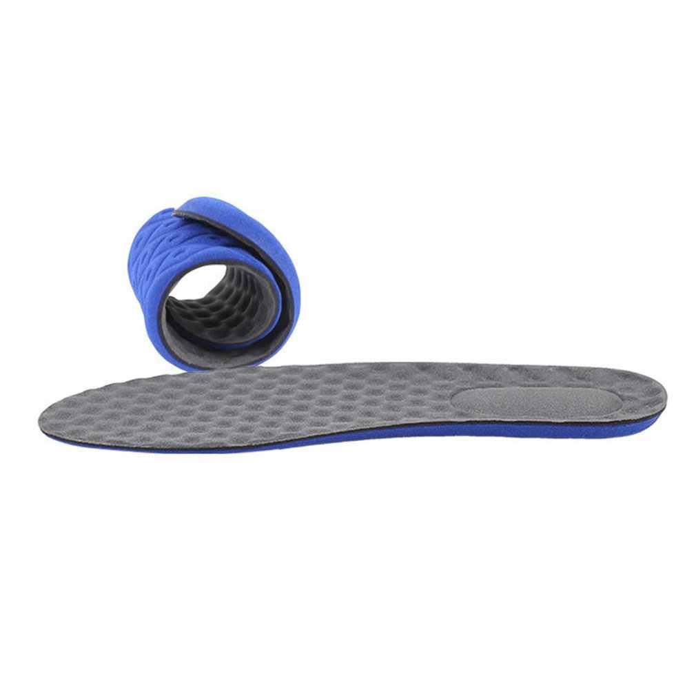 Deporte elástico algodón plantillas con absorción de impacto Running deporte plantillas antideslizantes almohadillas de plantilla de masaje de amortiguación