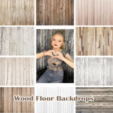 Dark Brown Wood Floor Photography Backdrops Newborn Photo Booth Backgrounds for Photography Studio Vinyl Photophone Photo Shoot(China)