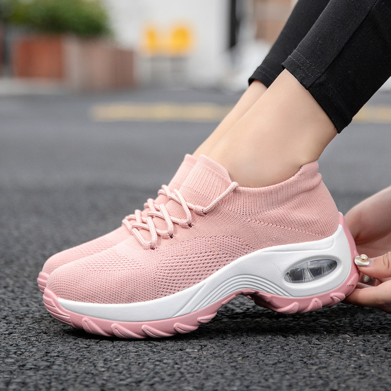 YWEEN Shoes Woman New Spring Lace Up Air Cushion Casual Ladies Shoes Woman Breathable Mesh Shoes Woman Sneakers Tenis Feminino