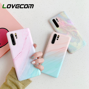 LOVECOM Vintage Gradual Marble Phone Case For Huawei P40 P30 P20 Pro Mate 20 Mate 30 Lite Pro Matte Soft IMD Back Cover Coque