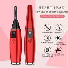 New LCD Electric Eyelash Curler USB Rechargeable Electric Heated Eyelash Lasting Stereotypes Portable Makeup Eyelash Curler Kit